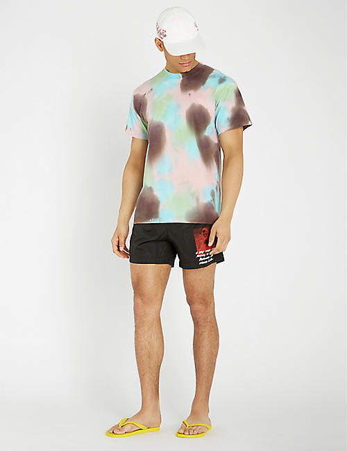 OFF-WHITE C/O VIRGIL ABLOH Mona Lisa regular-fit swim shorts