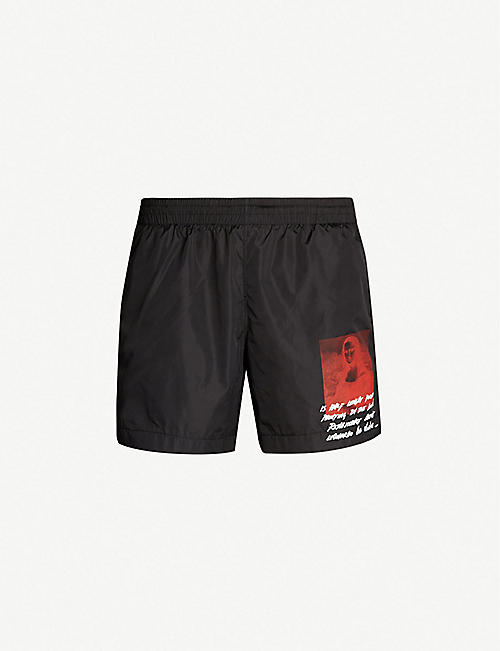 2c0ffdb6bfe OFF-WHITE C O VIRGIL ABLOH Mona Lisa regular-fit swim shorts