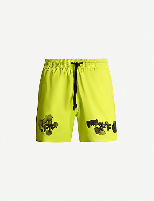 OFF-WHITE C/O VIRGIL ABLOH Off-White x Vilebrequin logo-print swim shorts