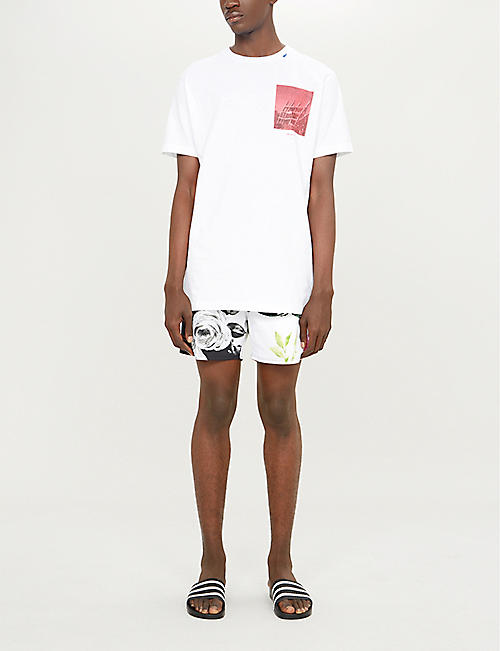 OFF-WHITE C/O VIRGIL ABLOH Off-White x Vilebrequin floral-print swim shorts