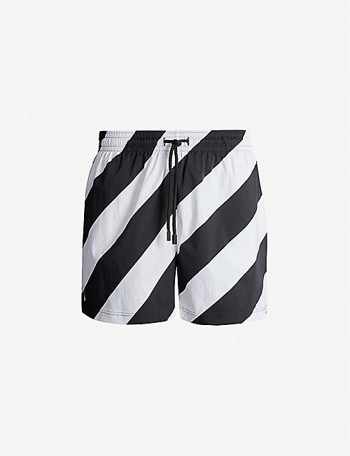 OFF-WHITE C/O VIRGIL ABLOH Off-White x Vilebrequin striped swim shorts