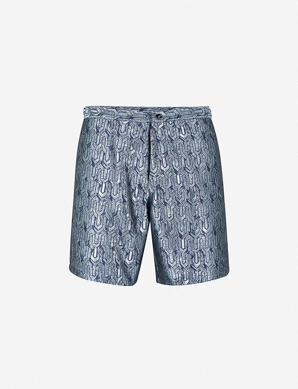 d96911455af41 LA PERLA - Aqua Pura printed jacquard swim shorts | Selfridges.com