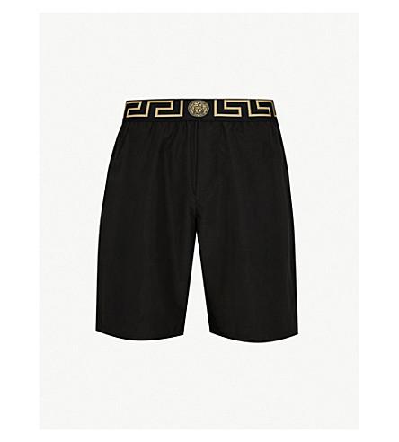 797d92926dfd VERSACE Iconic long swim shorts (Black