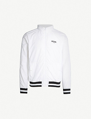 MOSCHINO Stripe-trimmed shell jacket
