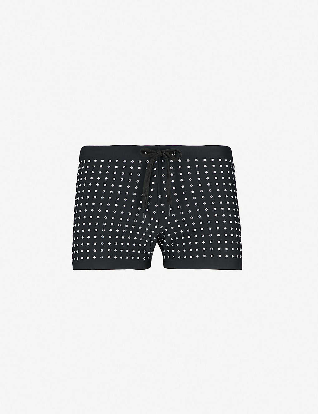 d678ca39f1ea4a MOSCHINO - Diamanté swim shorts | Selfridges.com
