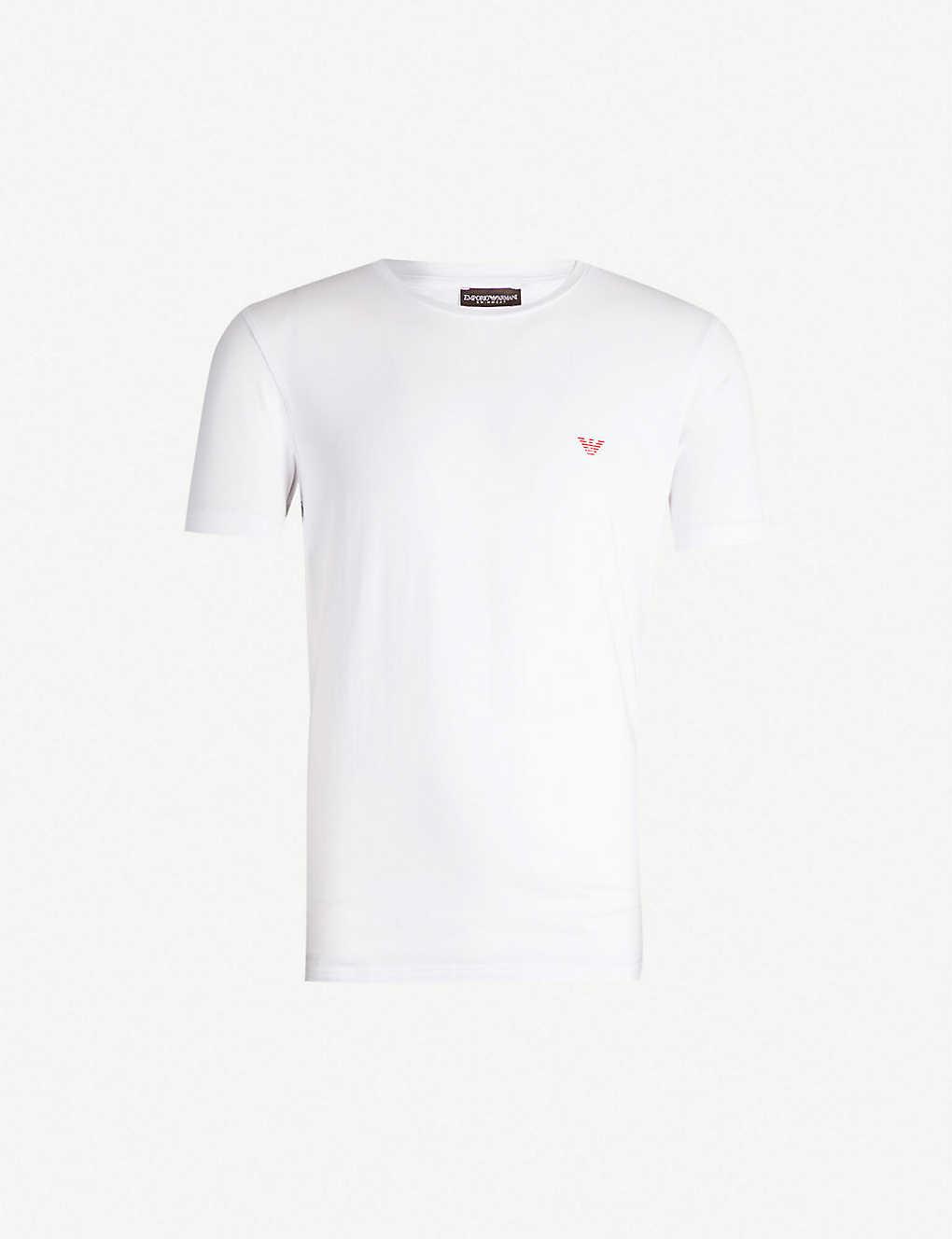 bbef8ad89dd7 EMPORIO ARMANI - Logo-embroidered stretch-cotton T-shirt ...