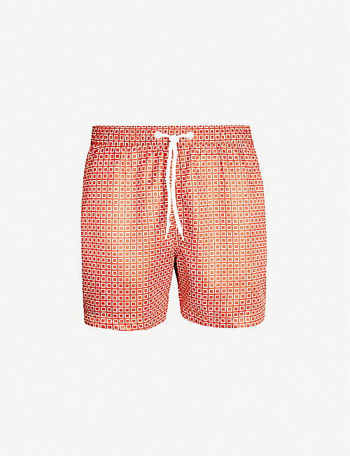 FAR AFIELD Graphic-print swim shorts