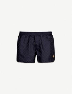 GUCCI Bee-embroidered swim shorts