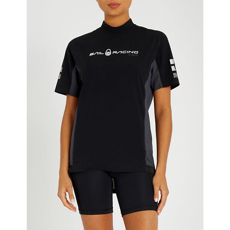 SAIL RACING Orca Rashguard Stretch T-Shirt in Black