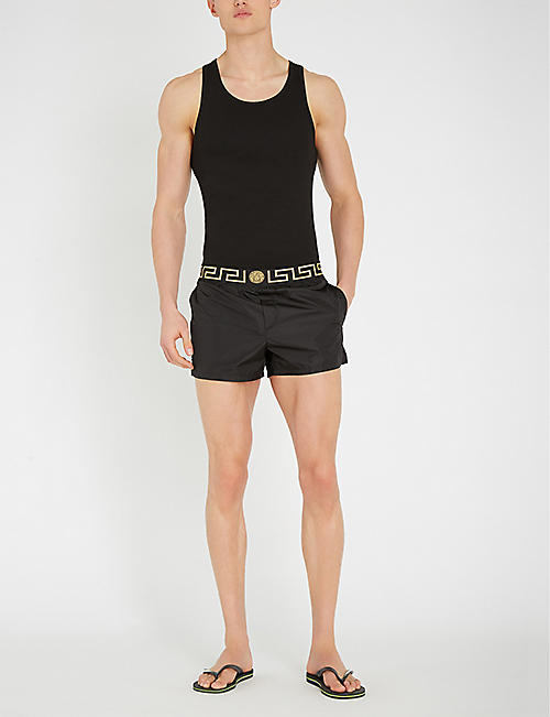 VERSACE Iconic shell swim shorts