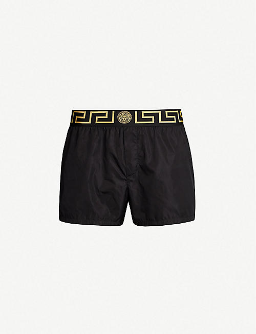 db56b01931af VERSACE Iconic shell swim shorts