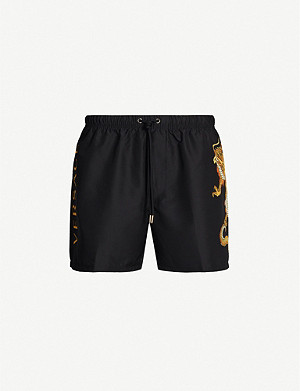 VERSACE Dragon-print regular-fit swim shorts