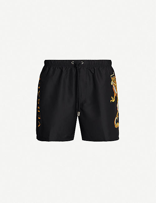 51a1d0a92 VERSACE Dragon-print regular-fit swim shorts