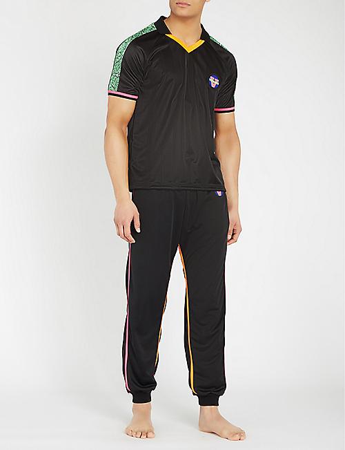 affb78603bbbdf VERSACE Baroque-trim stretch-jersey T-shirt