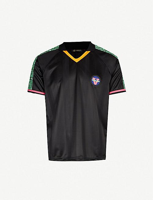 7af3e4efb VERSACE Baroque-trim stretch-jersey T-shirt