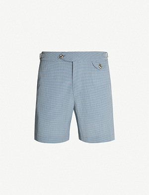 HEMINGSWORTH Striped cotton-blend shorts