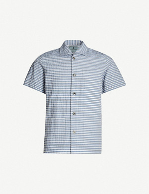 HEMINGSWORTH Cabana regular-fit seersucker shirt