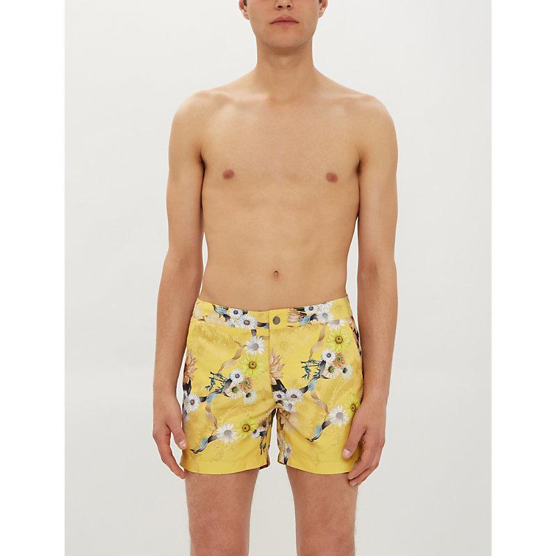 6b12798265 RIZ | Buckler Graphic-Print Swim Shorts | Goxip