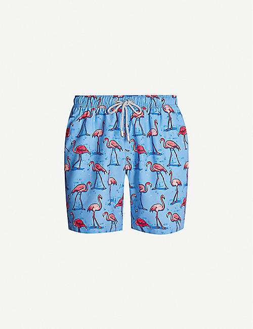 BLUEMINT Arthus flamingo-print swim shorts