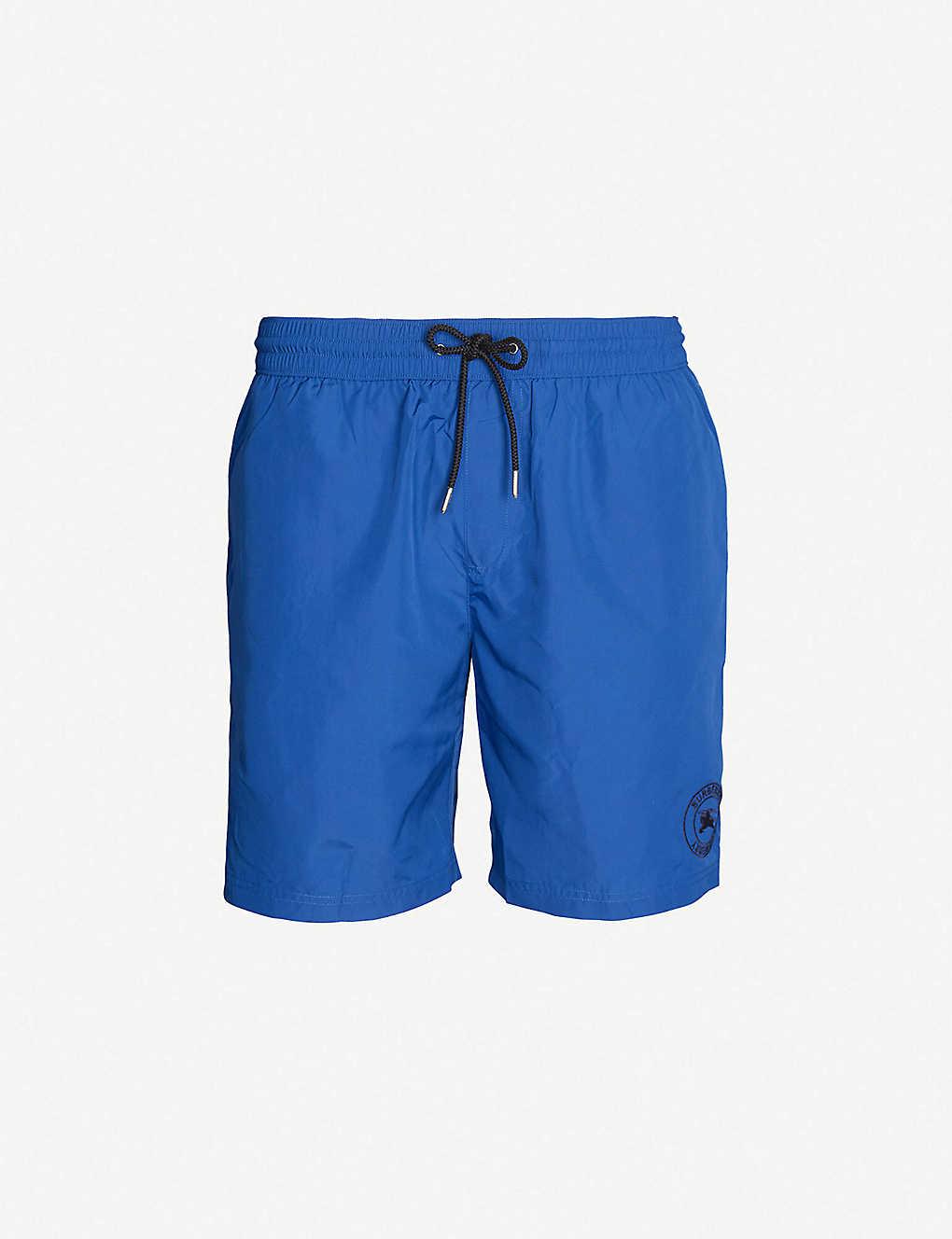 1a5ed7a0f4 BURBERRY - Logo-embroidered swim shorts   Selfridges.com