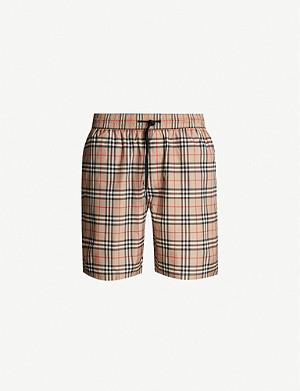 e422649511 BURBERRY - Check swim shorts | Selfridges.com