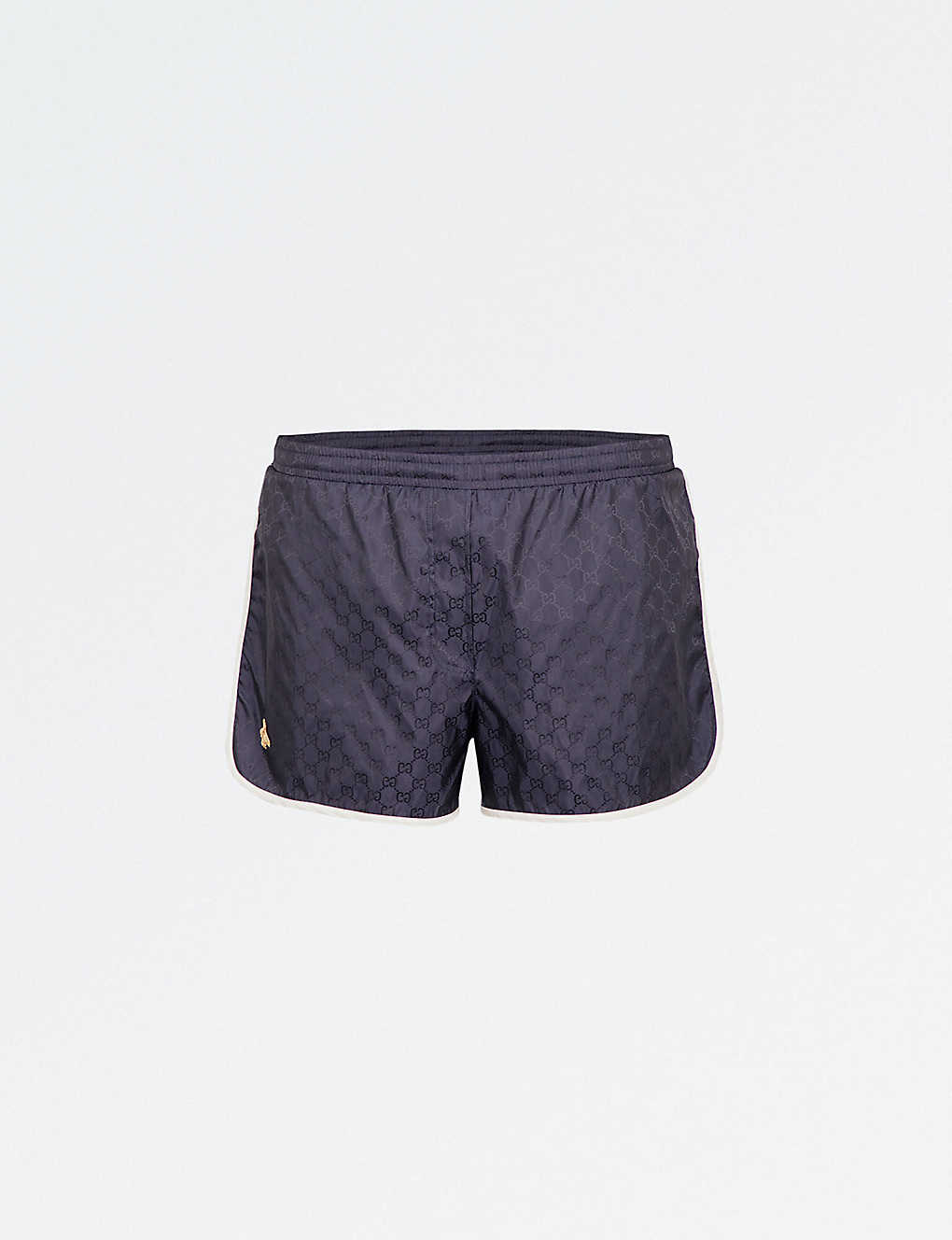 b118aab36a GUCCI - Bee-embellished swim shorts | Selfridges.com
