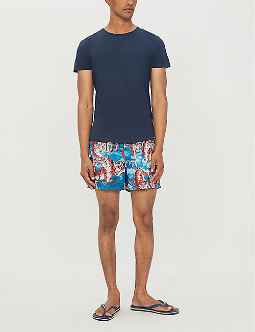 VALENTINO Tiger-print swim shorts