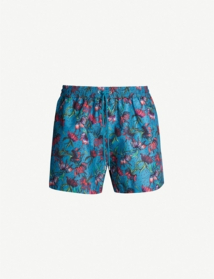PAUL SMITH Floral-print swim shorts