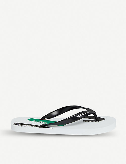 8c5fa5348d4a Benassi rubber slider sandals. £24.99. PAUL SMITH Painted Sports Stripe  rubber sliders