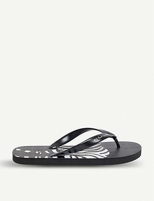 50829d84b PAUL SMITH Zebra-print rubber disc flip-flops
