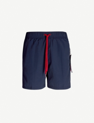 TOMMY HILFIGER Contrast drawstring relaxed-fit swim shorts