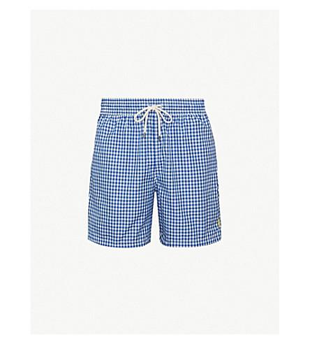 a1f6aa7012 ... spain polo ralph lauren traveller gingham swim shorts blue 1b01a 6fa5a