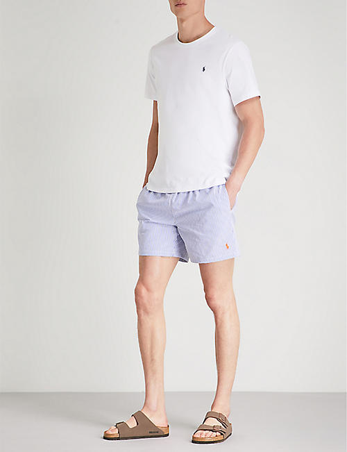 POLO RALPH LAUREN Traveller striped cotton-blend swim shorts