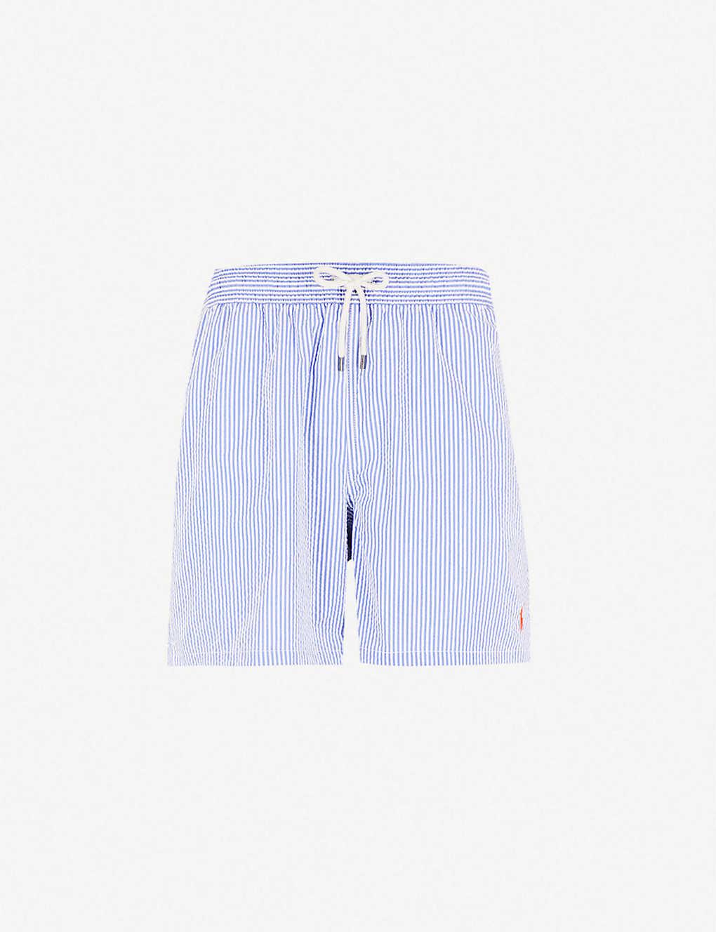 f3809eefe35c6 POLO RALPH LAUREN - Traveller striped cotton-blend swim shorts ...