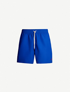 6b86ce3157 POLO RALPH LAUREN - Traveller logo-embroidered swim shorts ...
