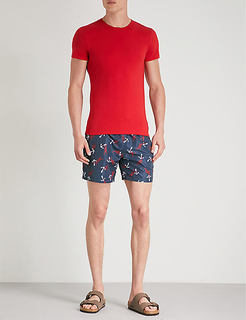 POLO RALPH LAUREN Traveller relaxed-fit anchor-print swim shorts