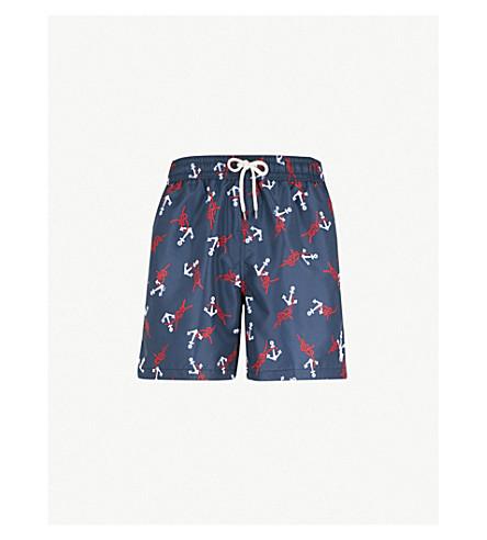 1aacfa2487e37 POLO RALPH LAUREN Traveller relaxed-fit anchor-print swim shorts (Navy+white