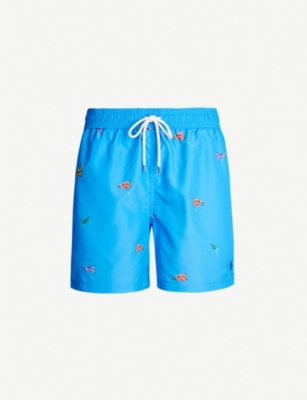 POLO RALPH LAUREN Traveller flying bug-print swim shorts