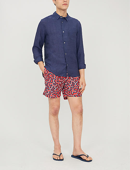 DEREK ROSE Maui printed swim shorts