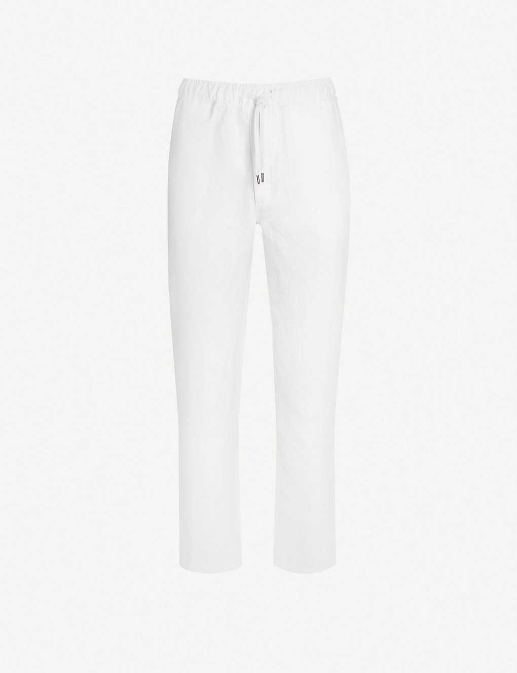 DEREK ROSE: Sydney relaxed-fit linen trousers