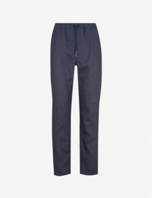 DEREK ROSE Sydney relaxed-fit linen trousers
