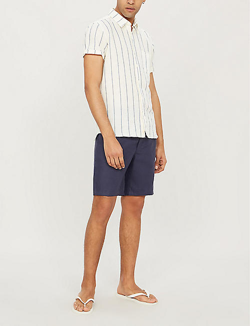 DEREK ROSE Sydney linen swim shorts