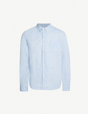 DEREK ROSE Monaco relaxed-fit linen shirt