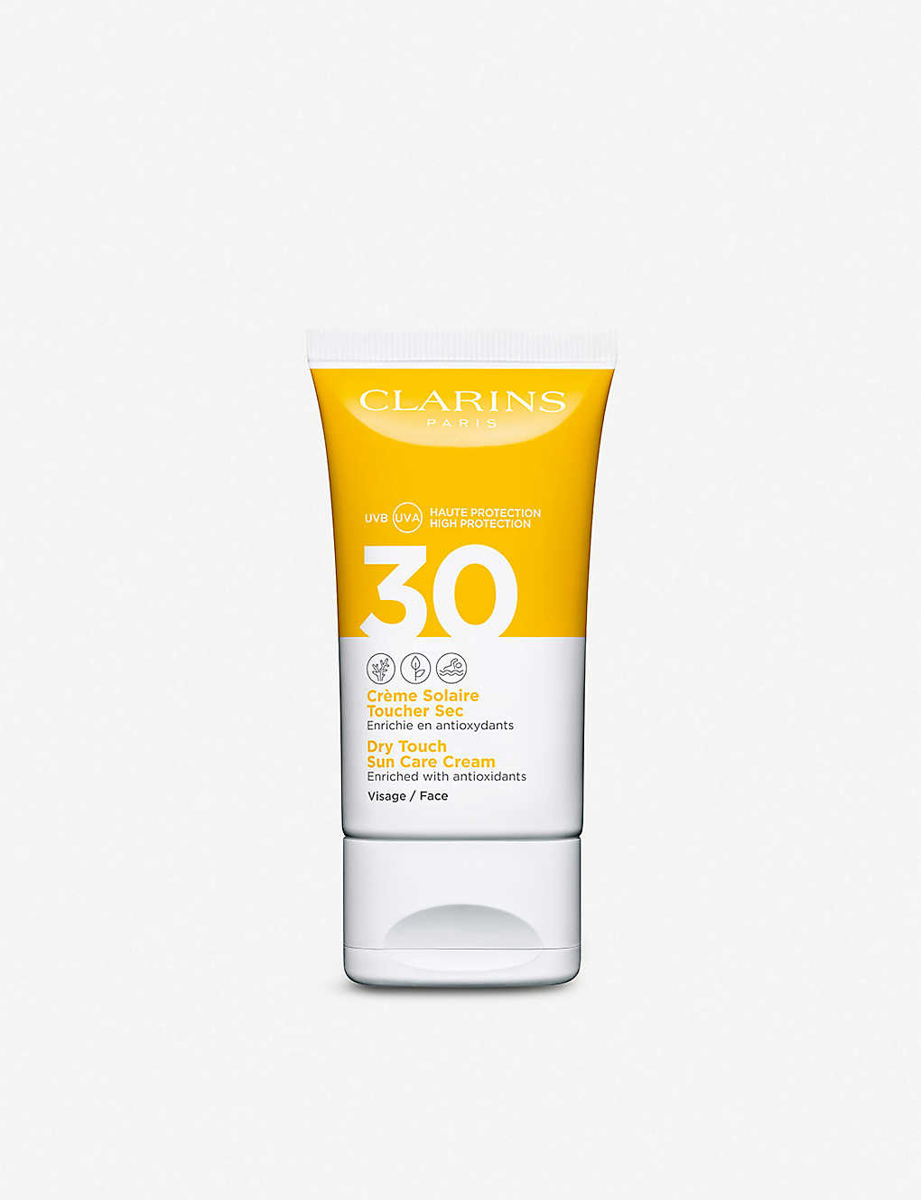 CLARINS: Dry Touch Sun Care cream for face SPF30 50ml