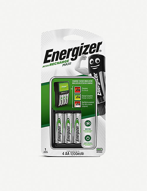 ENERGIZER: Energizer Battery Charger 4AA 1300mAh rechargeable batteries 335g