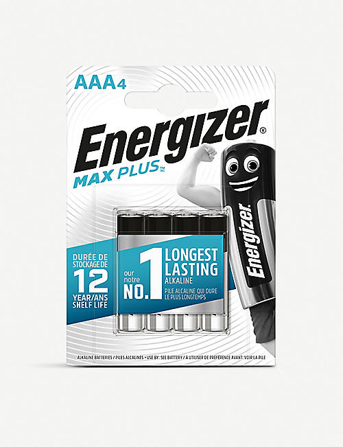 ENERGIZER: Max Plus AAA alkaline batteries pack of four