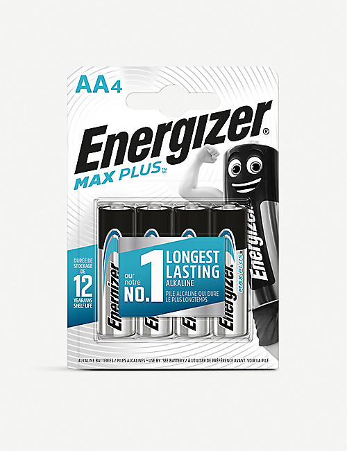 ENERGIZER: Max Plus AA alkaline batteries pack of four