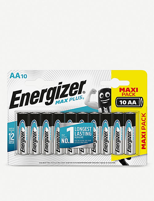 ENERGIZER: Max Plus AA alkaline batteries pack of 10