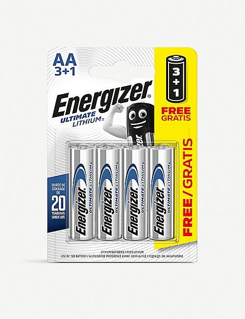 ENERGIZER: Lithium AA batteries pack of 4