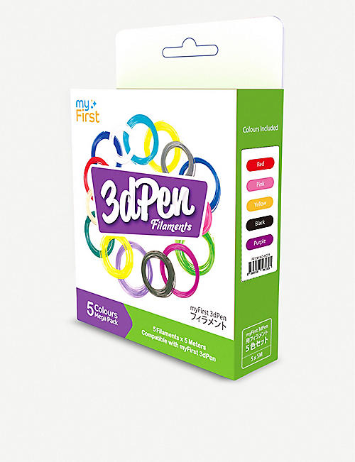 OAXIS myFirst 3d pen warm colour filaments